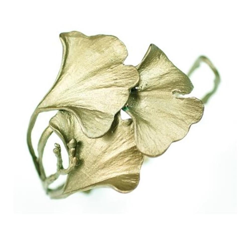 Gingko Cuff Bracelet | Michael Michaud Jewelry | SS7181bz -2