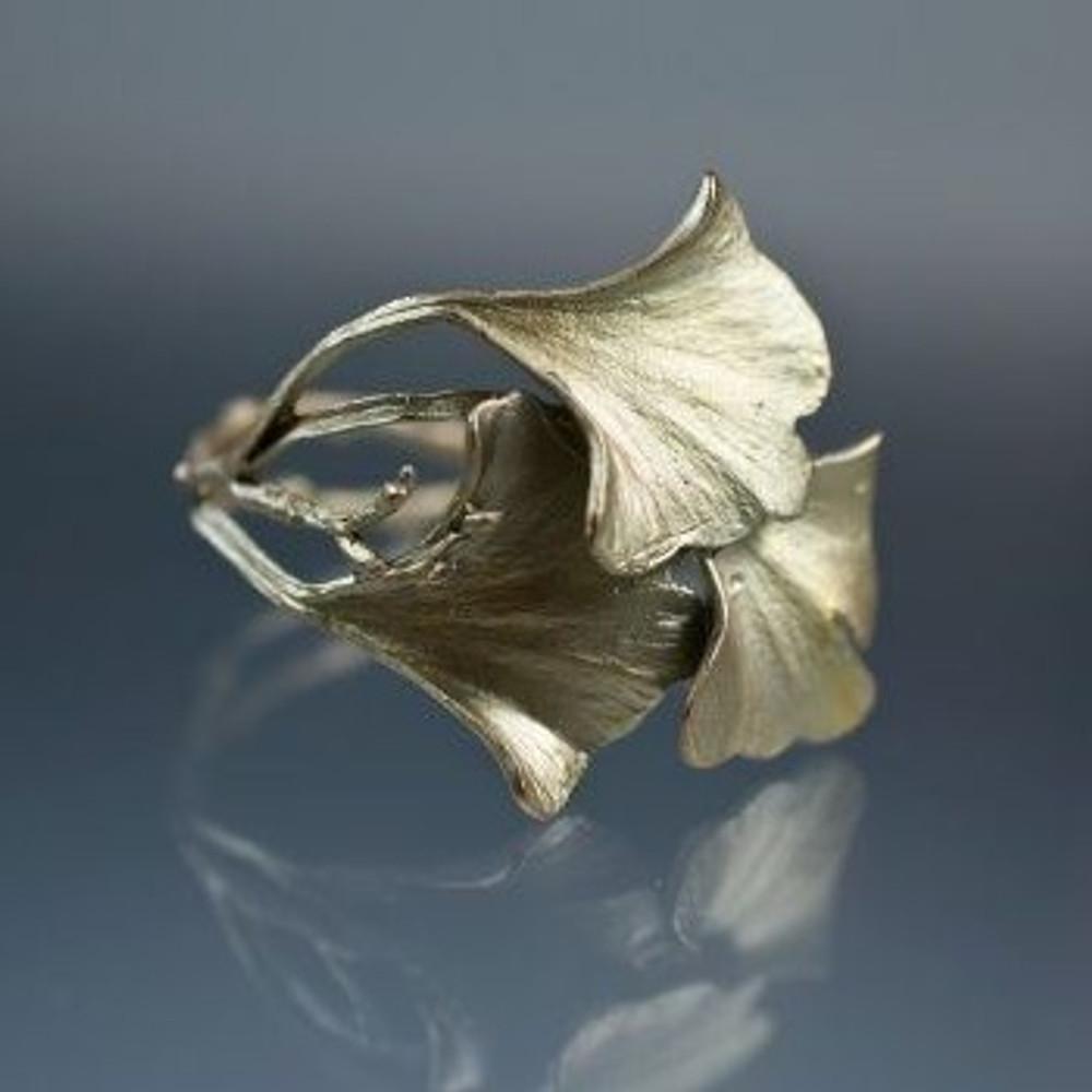 Gingko Cuff Bracelet | Michael Michaud Jewelry | SS7181bz -3