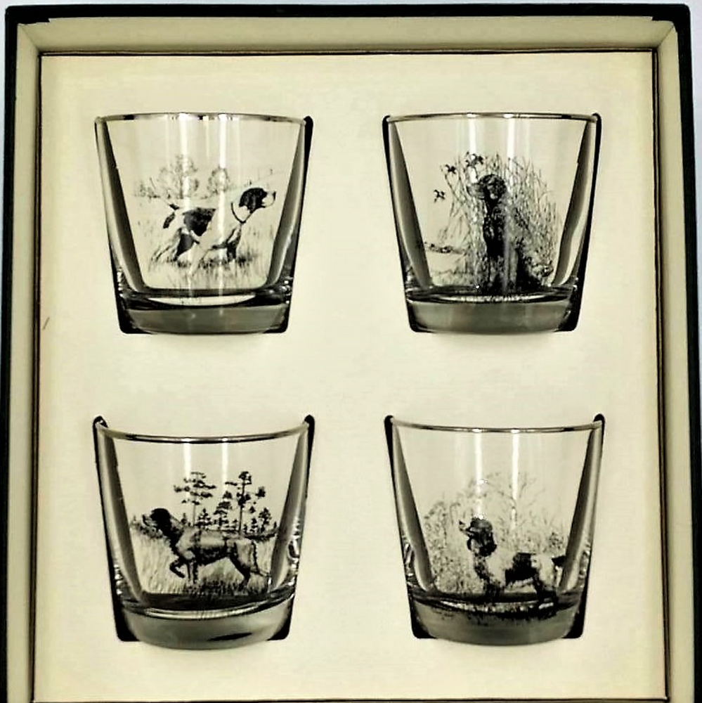 Sporting Dogs Tapered Cocktail Glass Set | Richard Bishop | 2025SD