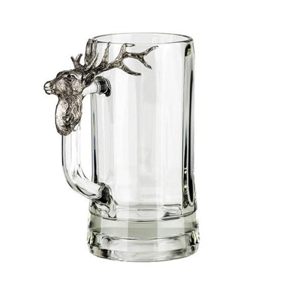 Fine Pewter Carved Elephant Beer Mug | Menagerie | MBM-E0581