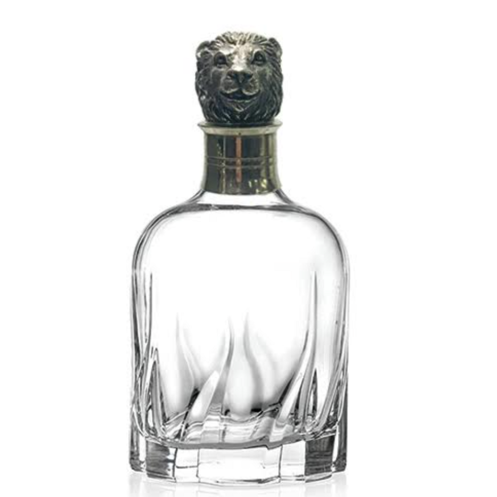 Carved Pewter Lion Modern Decanter | Menagerie | MRWD-L2073
