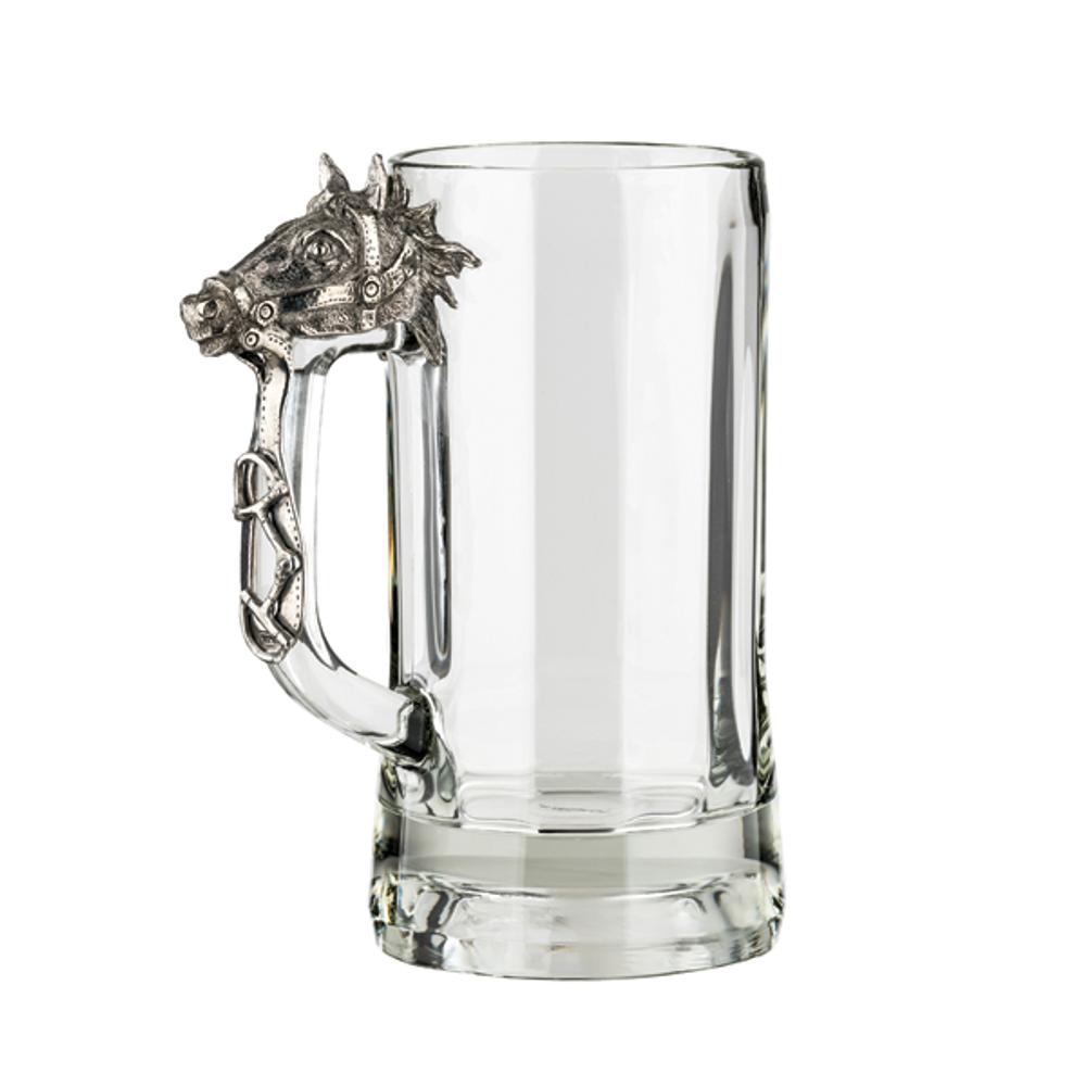 Fine Pewter Carved Horse Beer Mug | Menagerie