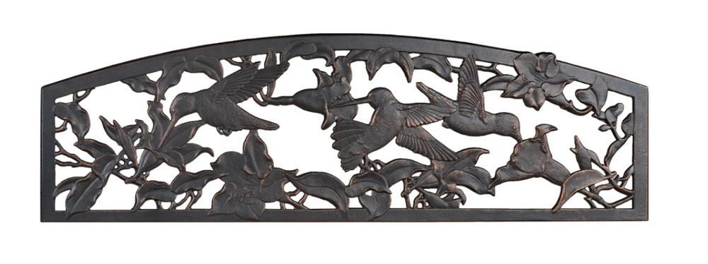 NEW! Hummingbird Cast Iron Garden Bench