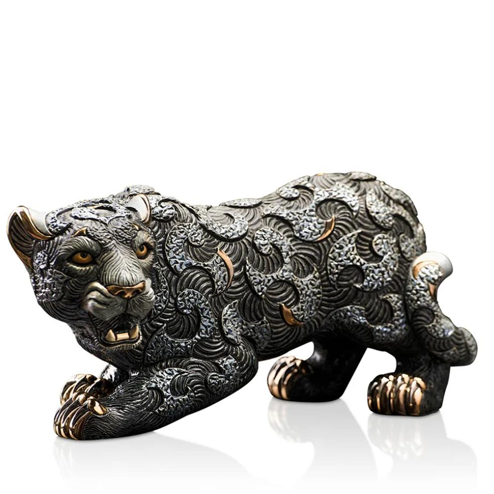 Black Panther with Arabesques Ceramic Figurine | De Rosa | Rinconada | DER469