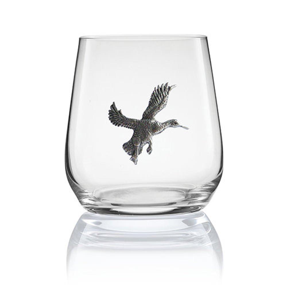 Duck Stemless Wine/Cognac Glass Set of 2 | Menagerie | M-SRWD2-060