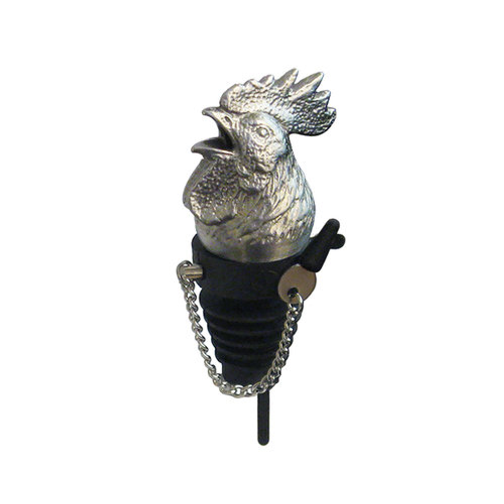 Stainless Steel Carved Rooster Whiskey/Spirits Pourer - Aerator | Menagerie | M-MWSP-R0551