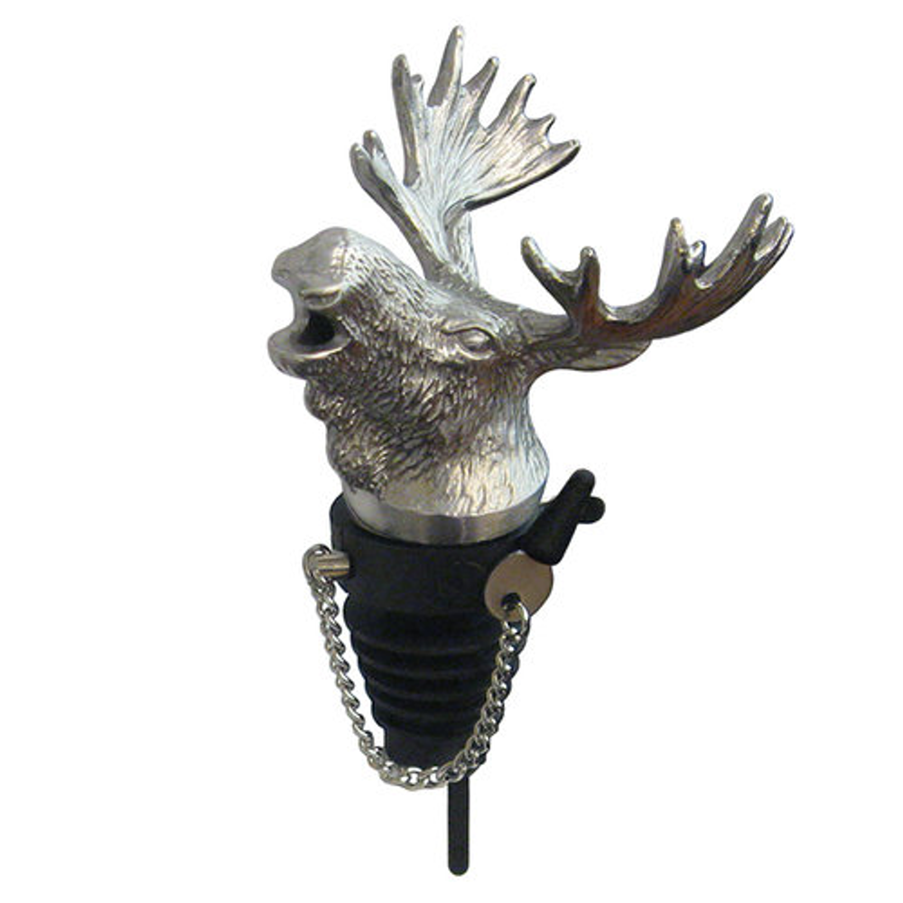 Stainless Steel Carved Elephant Whiskey/Spirits Pourer - Aerator   Menagerie   M-MWSP-M0651