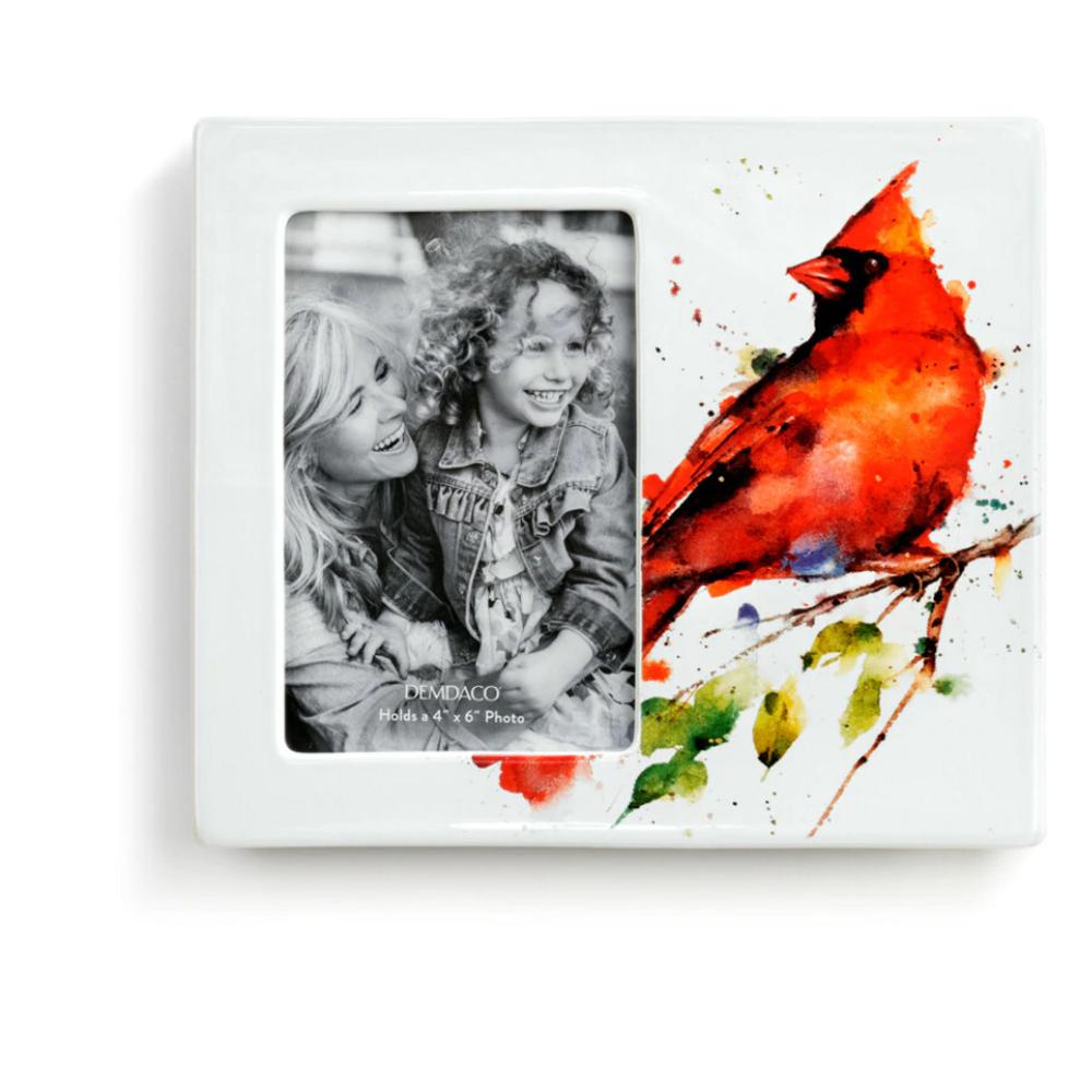 Spring Cardinal 4x6 Stoneware Photo Frame | Big Sky Carvers | BSCB1004610085