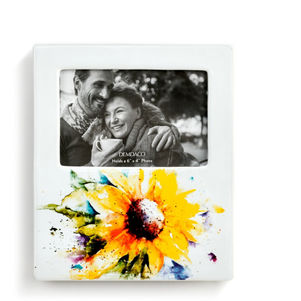 Sunflower Stoneware Photo Frame | Big Sky Carvers | 1004610084