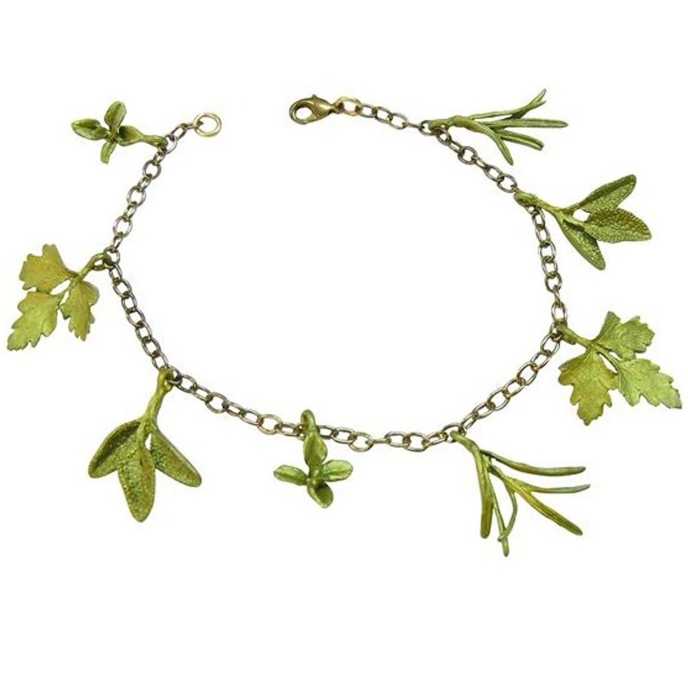 Petite Herb Charm Bracelet | Michael Michaud Jewelry | SS7238BZ