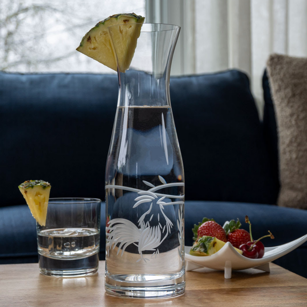 Limited Edition Rooster Engrave Glass Carafe | Rolf Glass | 418704