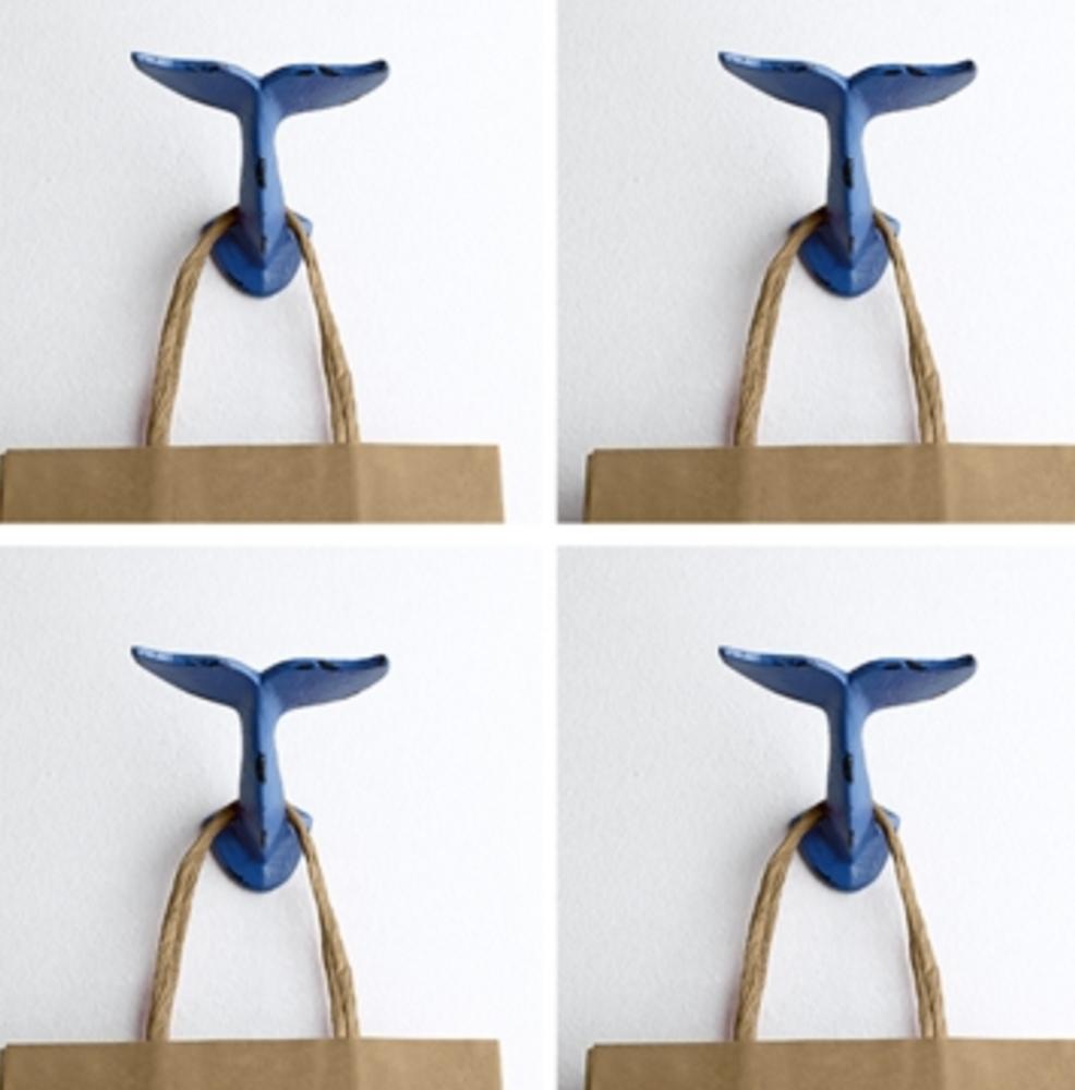 Whale Tail Wall Hooks Set of 4  64009   SPI Home
