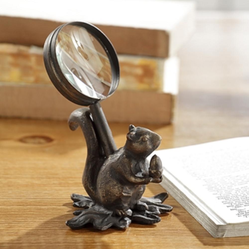 Sculptural Squirrel Magnifying Glass Holder | 51146 | SPI Home