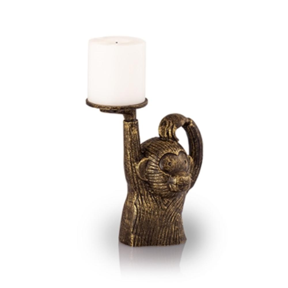 Monkey in Sweater Pillar Candleholder | 53047 | SPI Home