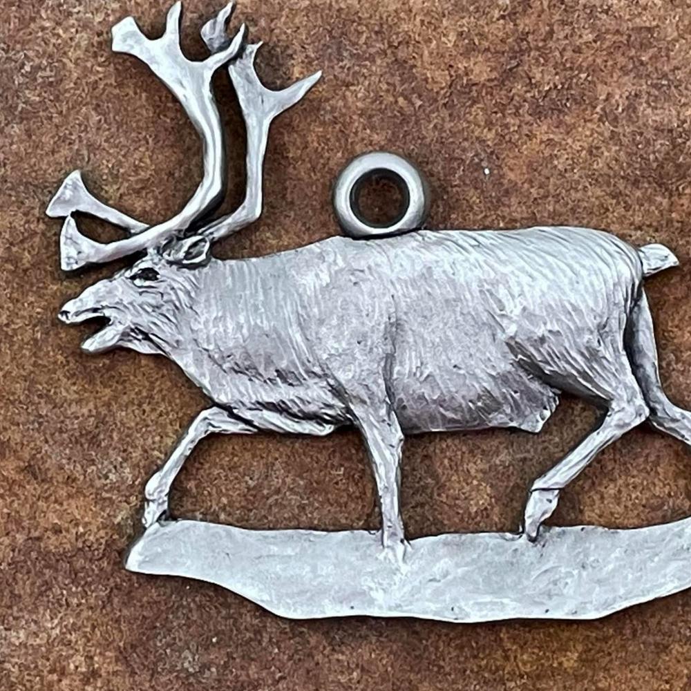 Reindeer Pewter Ornament   Andy Schumann   SCHREINDEERORN