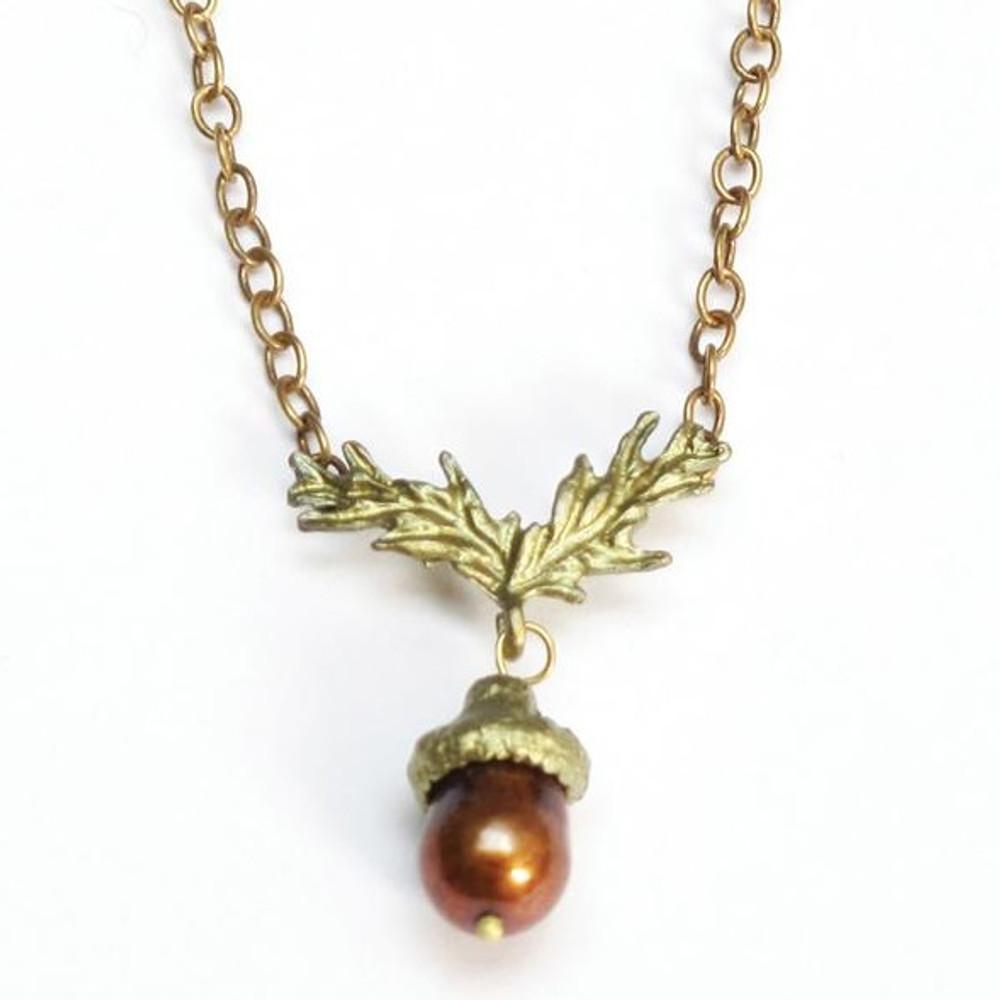 Acorn Chain Necklace | Michael Michaud Jewelry | SS7555bzbp