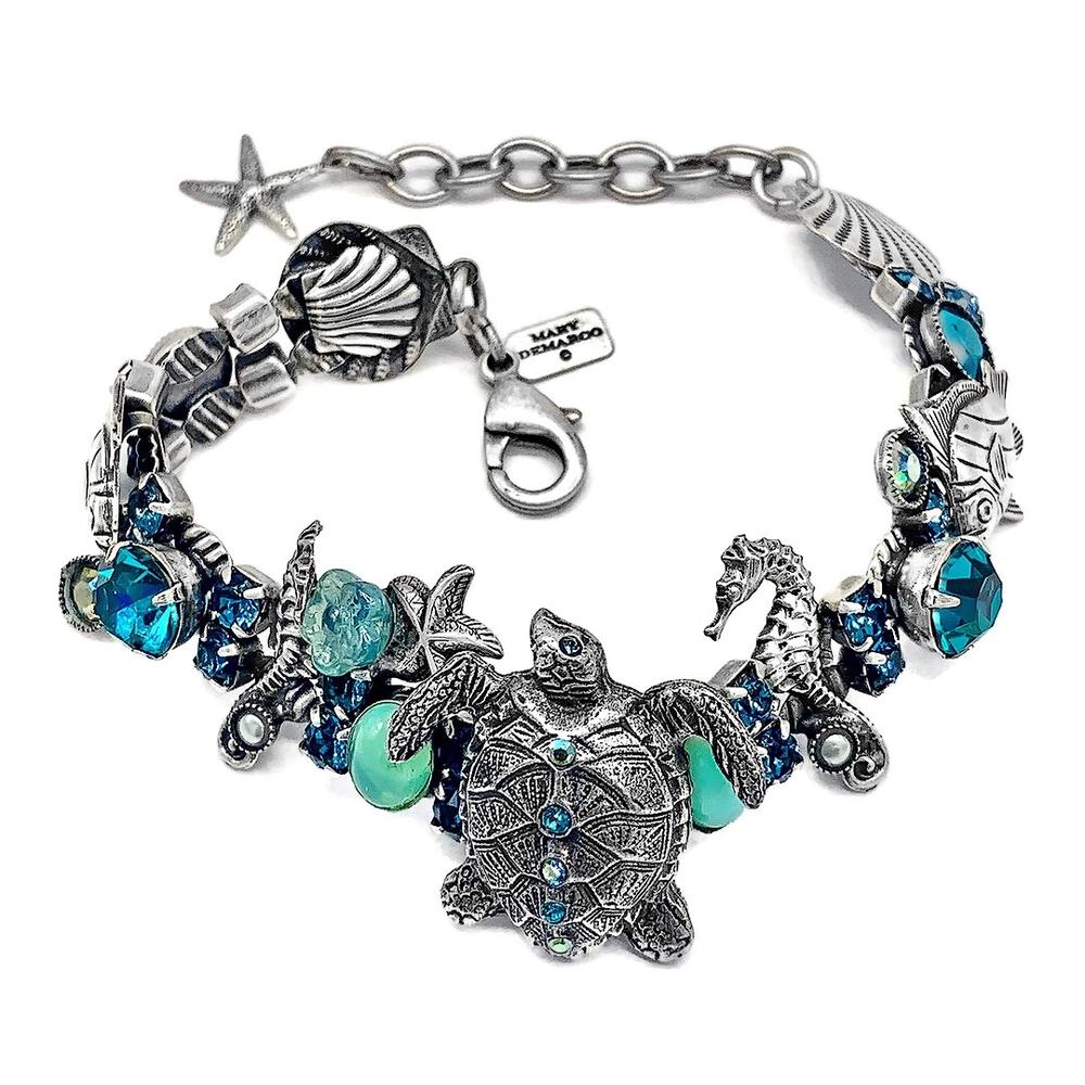 Sea Turtle Bracelet | La Contessa Jewelry | LCBR9505-BG