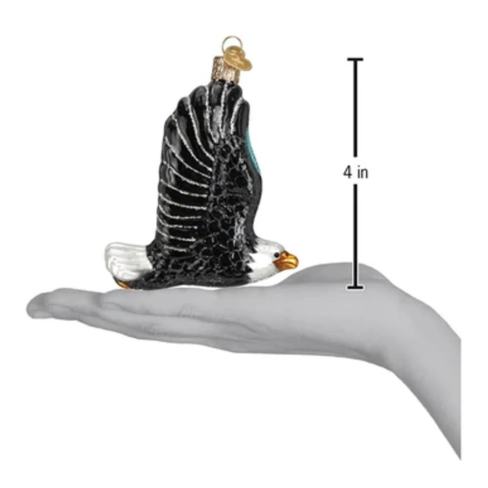 Eagle in Flight Glass  Ornament