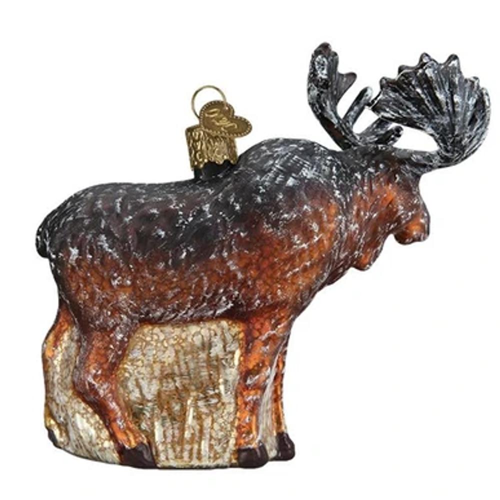 Vintage Moose Glass Ornament | 51008