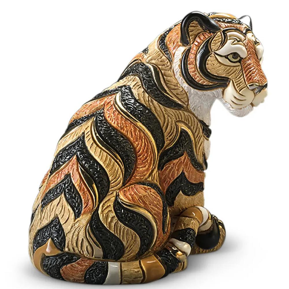 Tiger Sitting Ceramic Figurine | De Rosa | Rinconada | DER1036