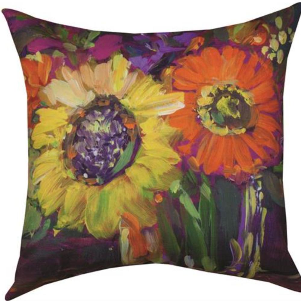 Floral Workshop Sunflower Indoor/Outdoor Pillow | SLFWSS | Manual Woodworkers