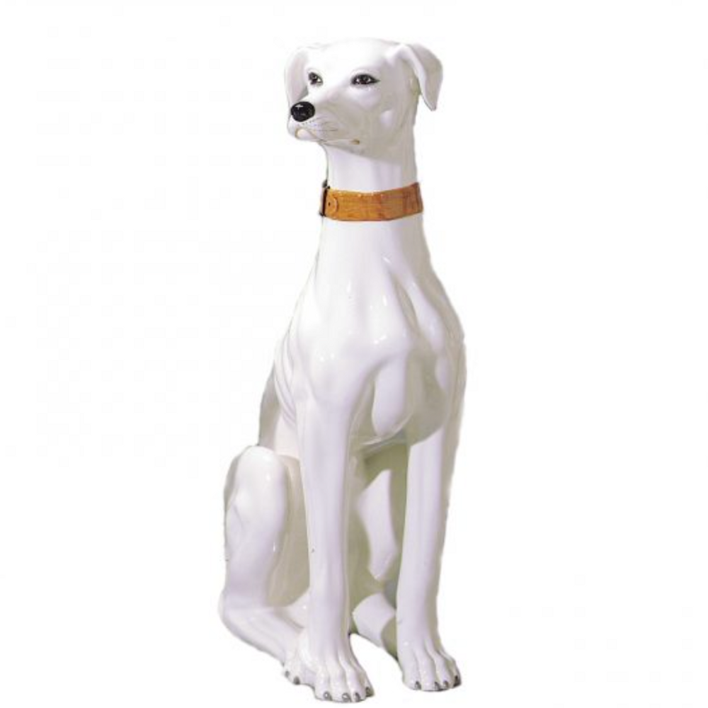 Whippet Dog Ceramic Sculpture   Intrada Italy   ANI9400