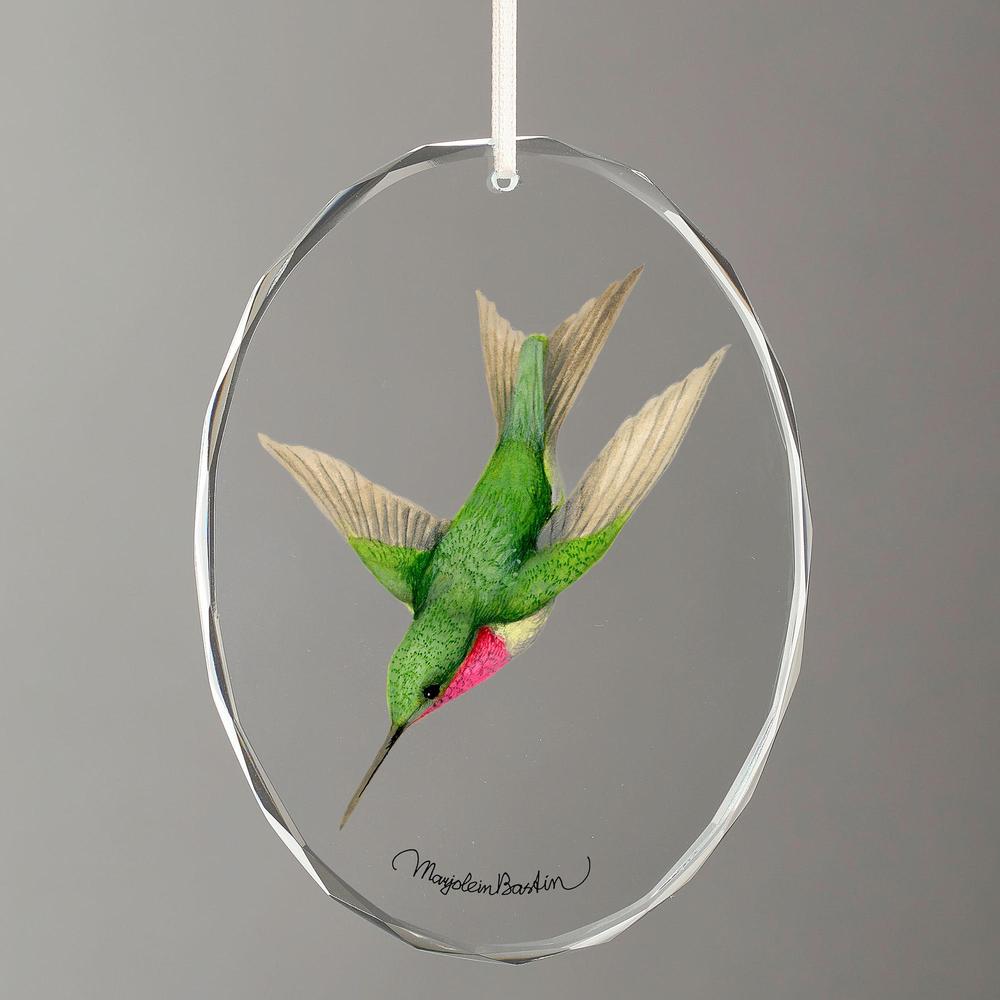 Ruby-Throated Hummingbird Crystal Ornament   Wild Wings