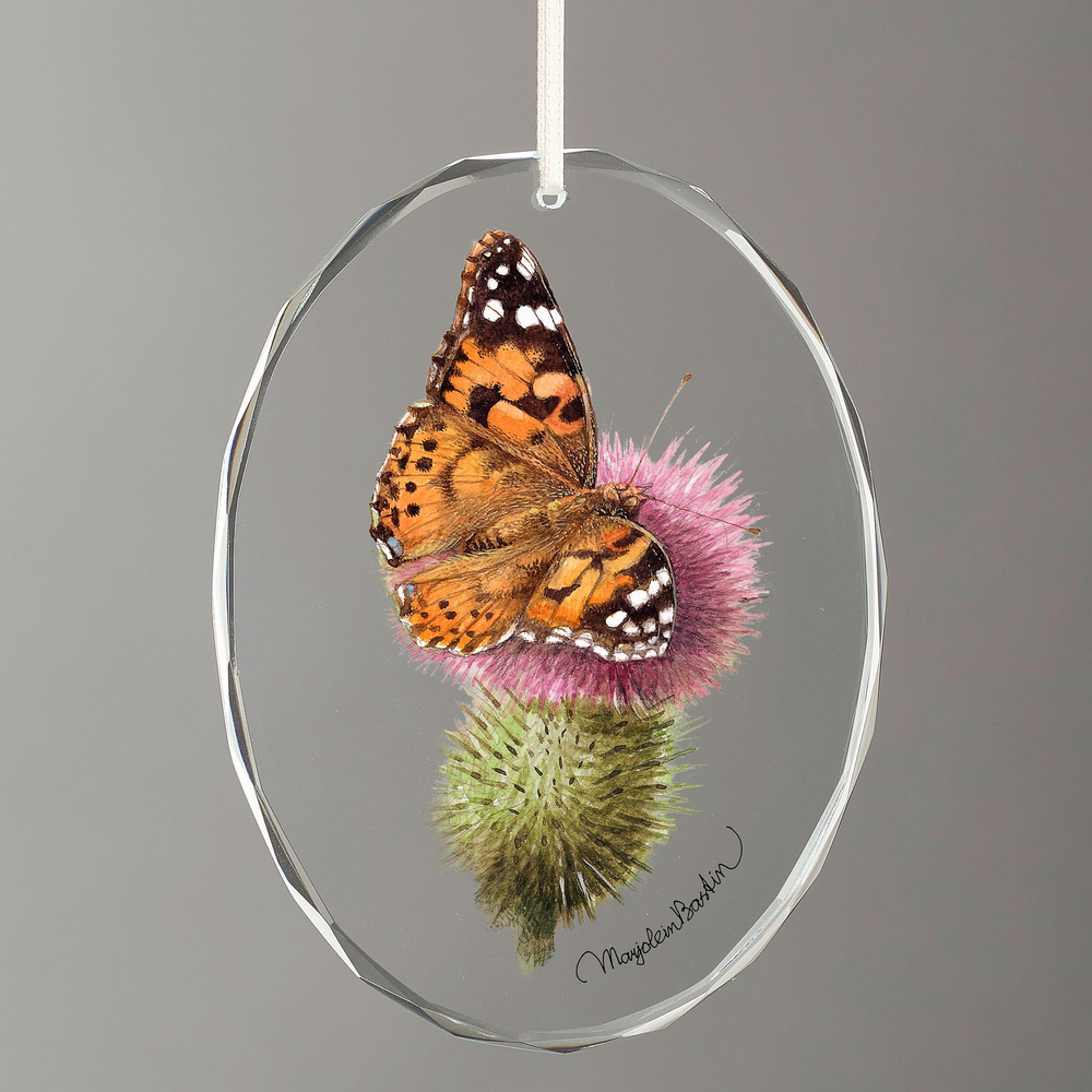 Painted Lady Butterfly Crystal Ornament   Wild Wings