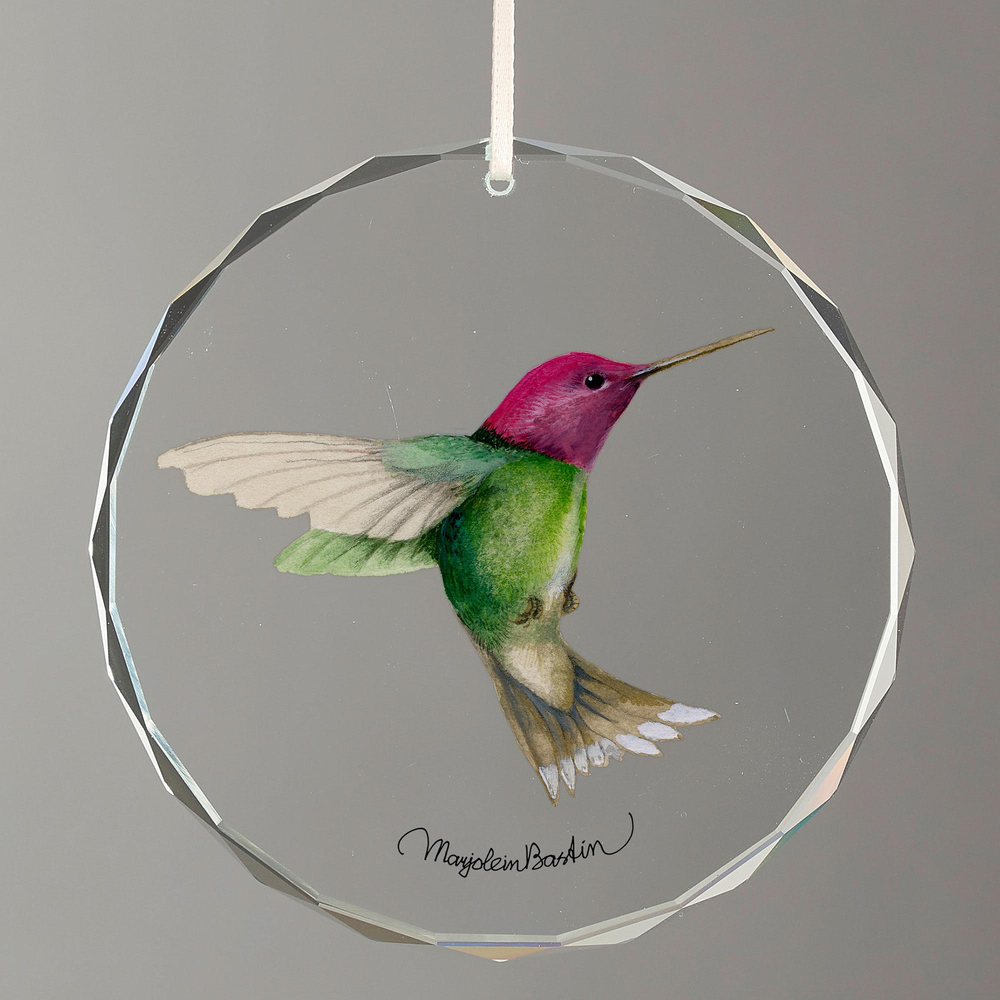 Anna's Hummingbird Crystal Ornament   Wild Wings