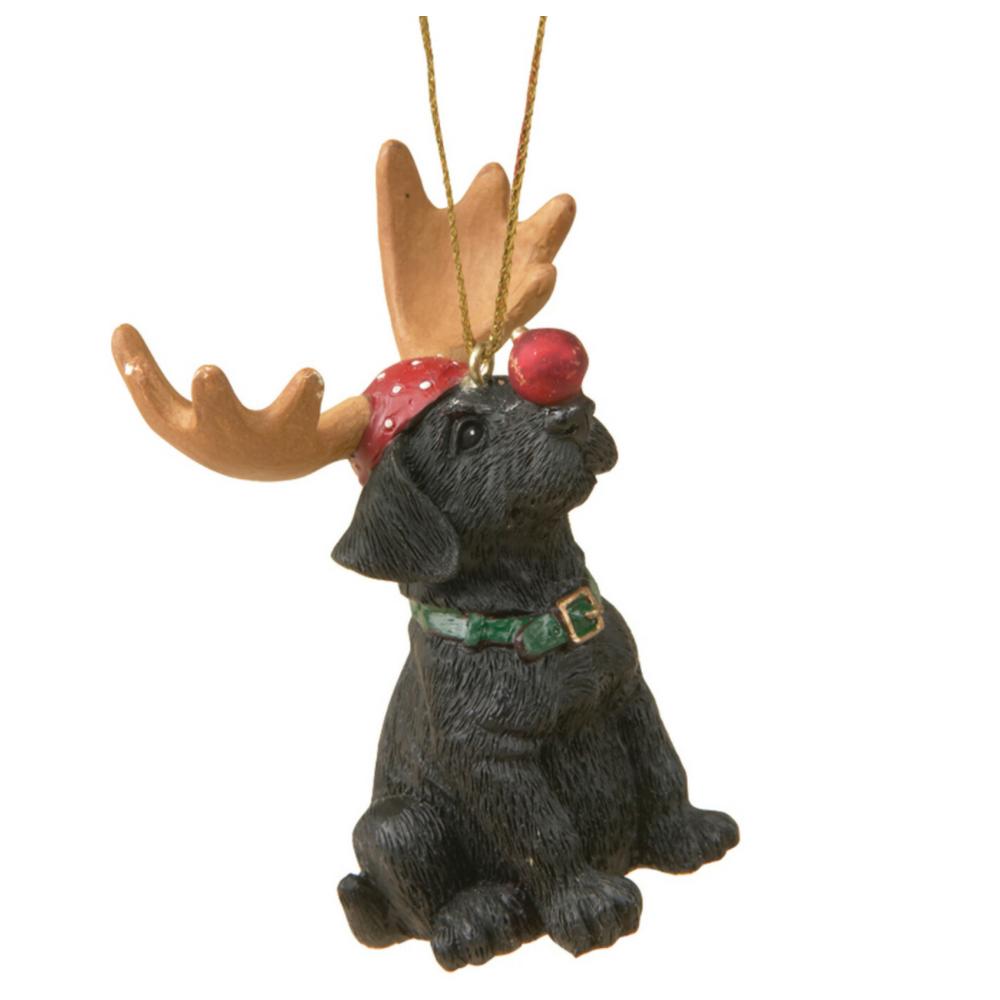 Bear Riding Moose Ornament   Big Sky Carvers   BSCB5070008