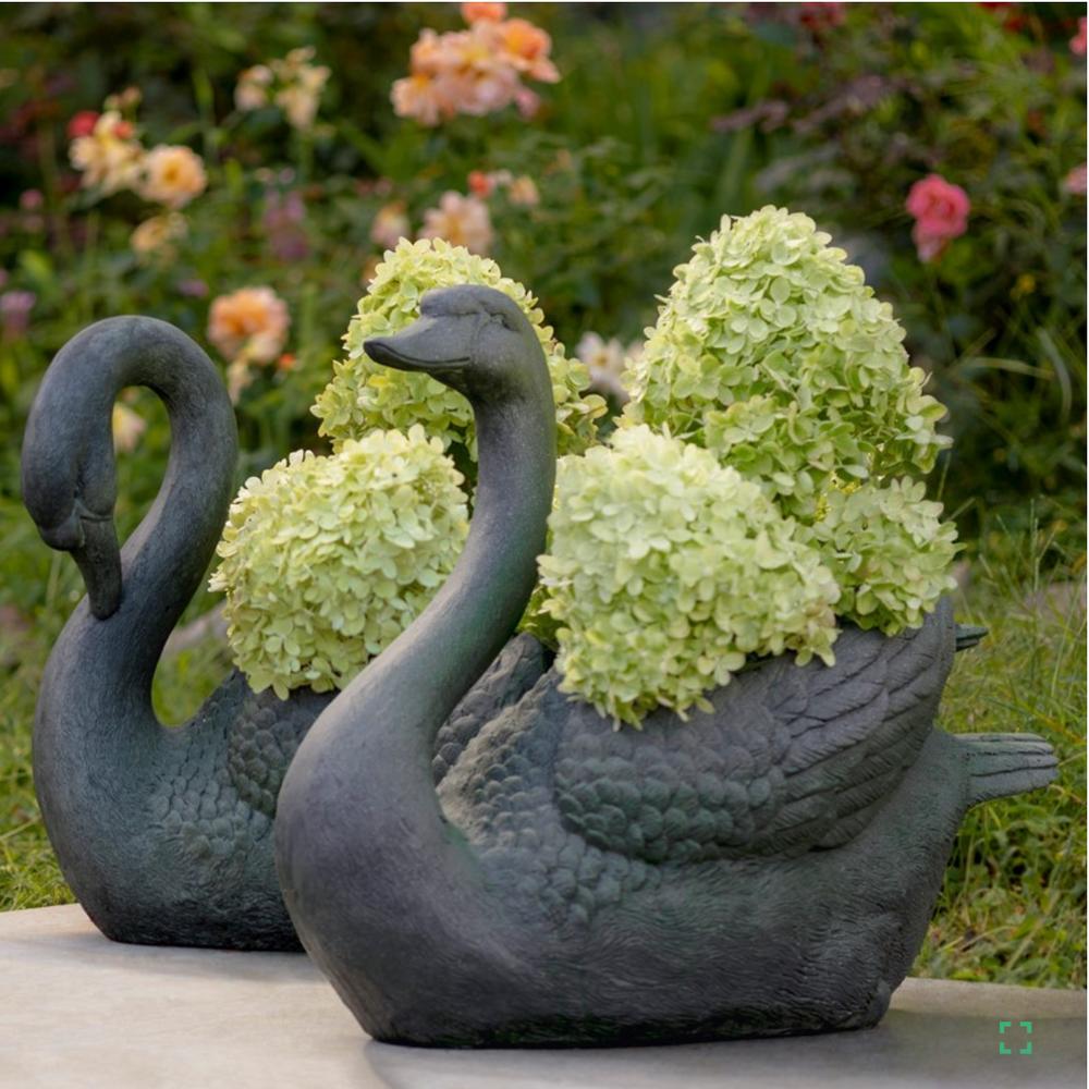 Swan Garden Planter Set of 2   Zaer   ZR145470
