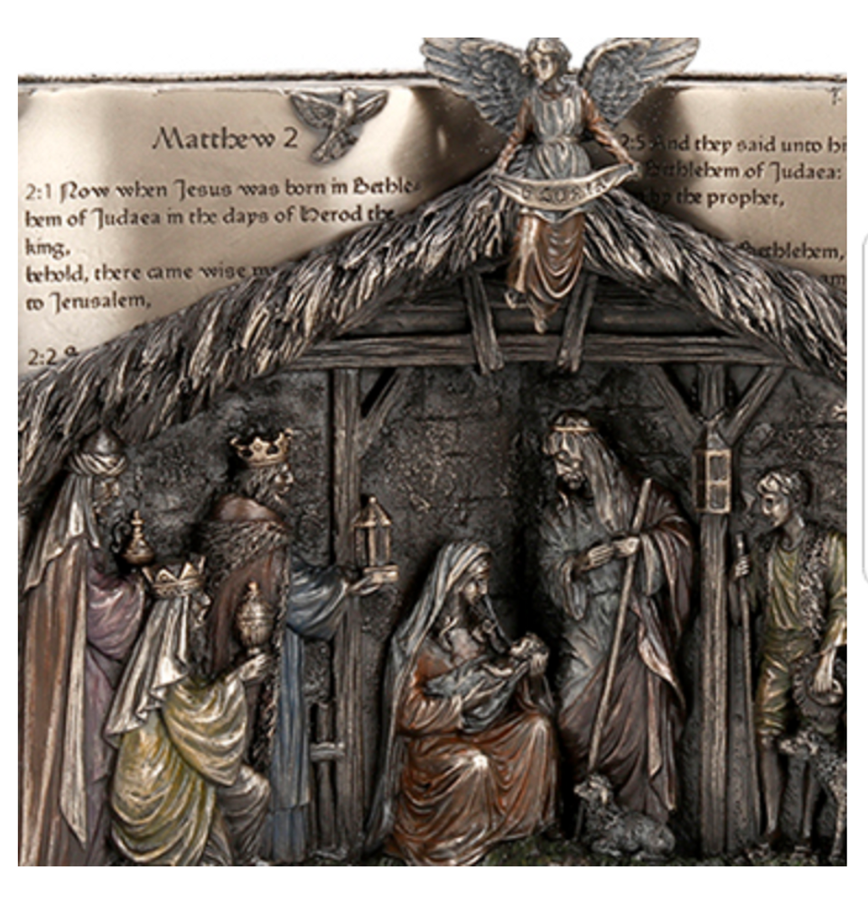 Bronze The Holy Bible Nativity Set | USIWU77787A4