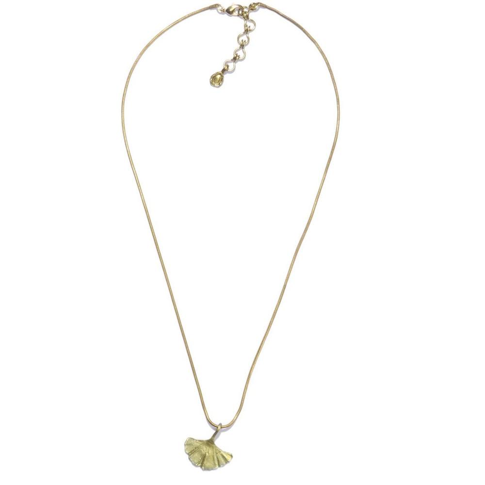 Gingko Single Leaf Pendant | Michael Michaud Jewelry | SS7852BZ