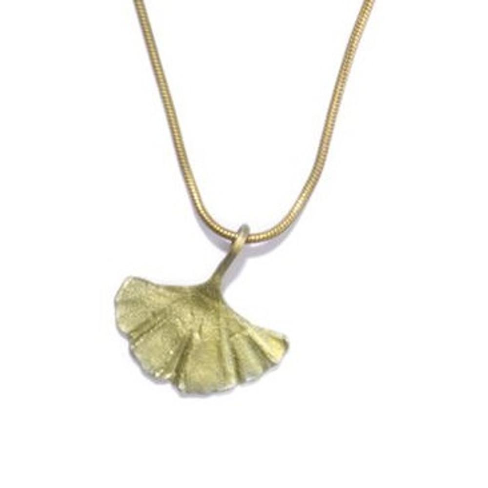 Gingko Single Leaf Pendant | Michael Michaud Jewelry | SS7852BZ -2