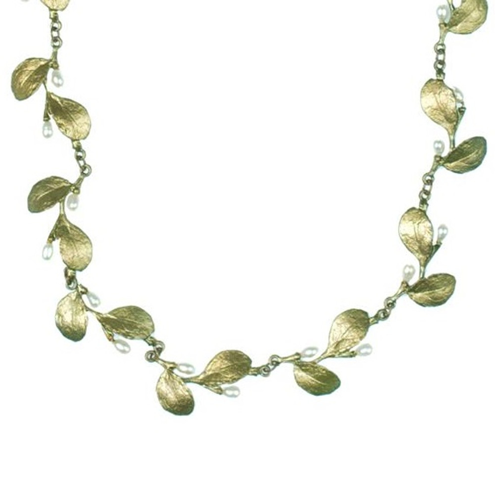 Irish Thorn Tailored Leaves Necklace | Michael Michaud Jewelry | SS8125bzwp