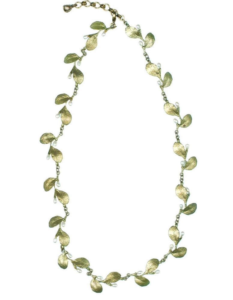 Irish Thorn Tailored Leaves Necklace | Michael Michaud Jewelry | SS8125bzwp -2