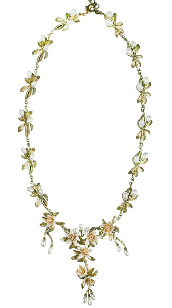 Orange Blossom Shower Drop Necklace | Michael Michaud Jewelry | SS8206BZYP