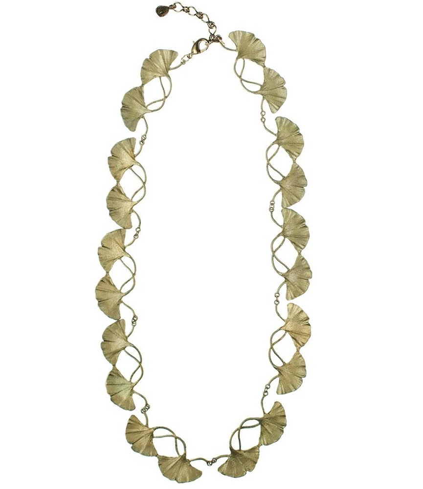 Gingko Adjustable Necklace   Michael Michaud Jewelry   SS8317BZ
