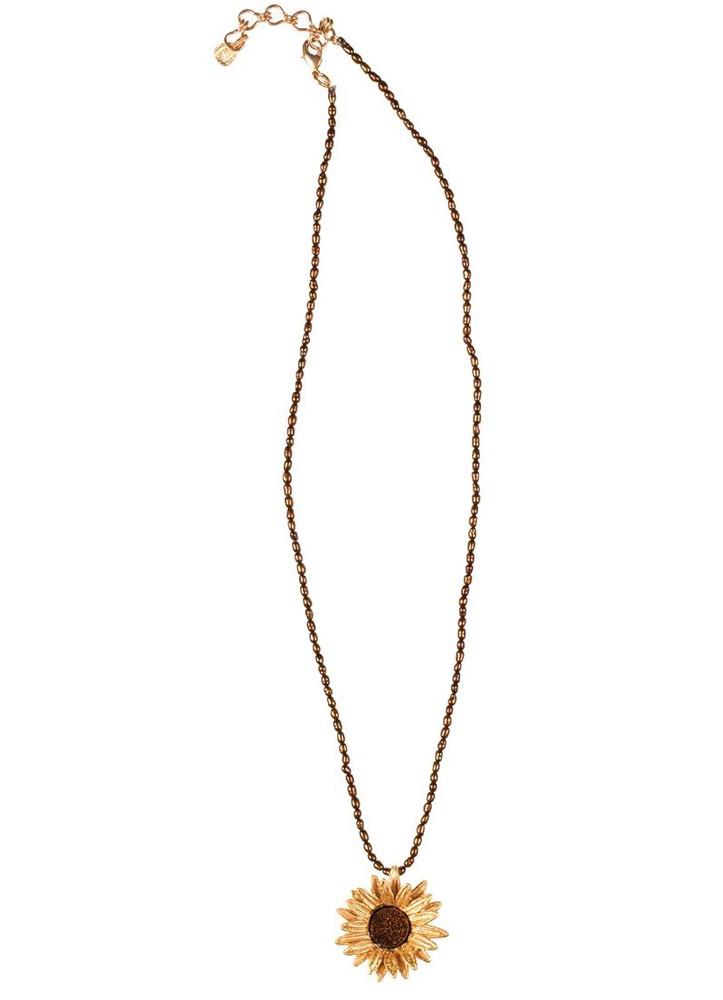 Sunflower Adjustable Brown Pearl Pendant   Michael Michaud Jewelry   SS8857bzbd