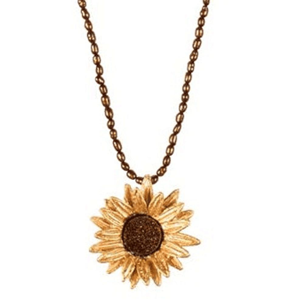 Sunflower Adjustable Brown Pearl Pendant | Michael Michaud Jewelry | SS8857bzbd -2