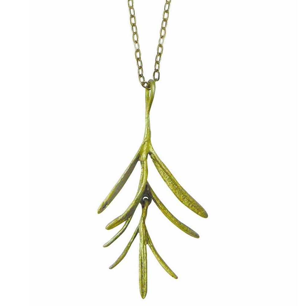 Rosemary Pendant Necklace Petite Herb | Michael Michaud Jewelry | SS8953BZ