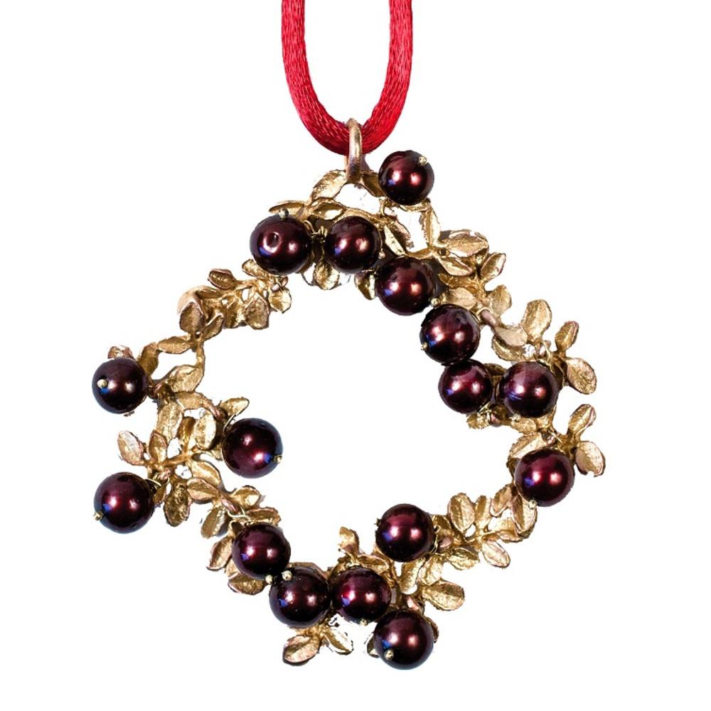 Cranberry Wreath Ornament  | Michael Michaud Table Art | taOR9365AB