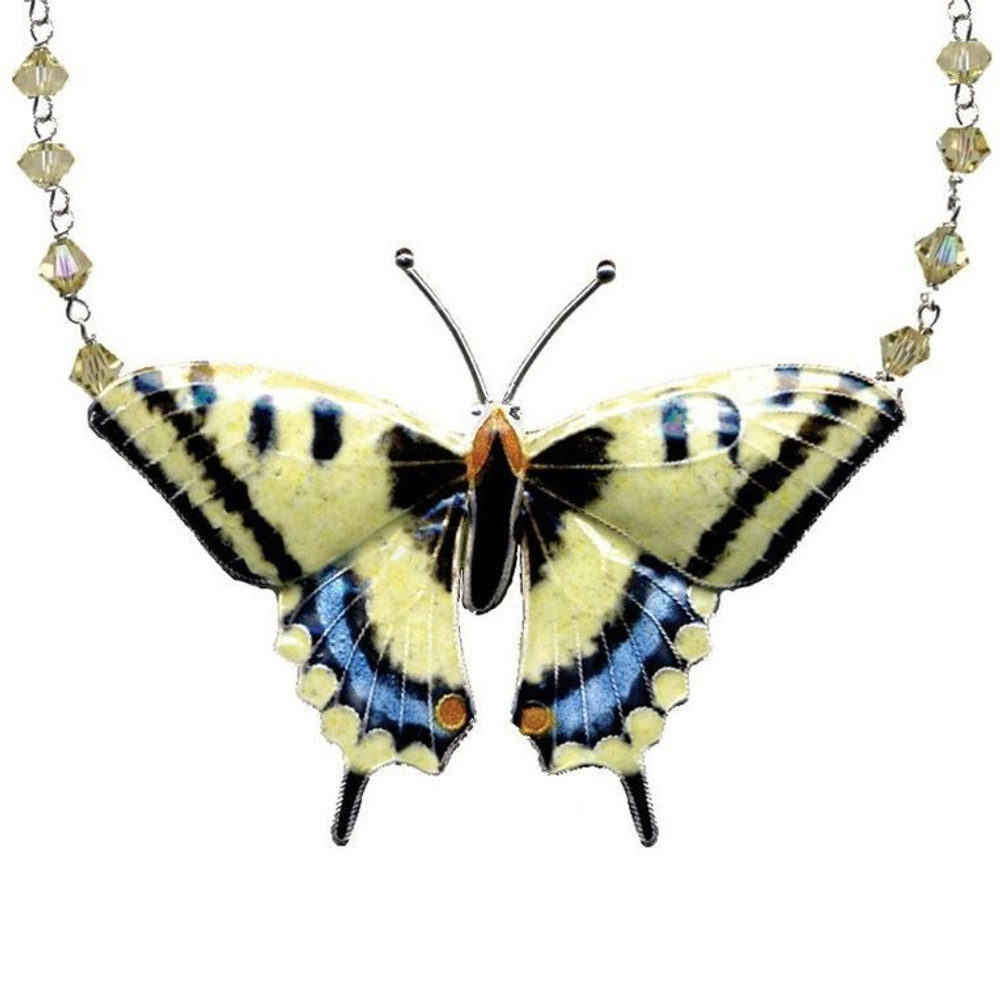 Swallowtail Butterfly Large Cloisonne Necklace | Bamboo Jewelry | BJ0004cn