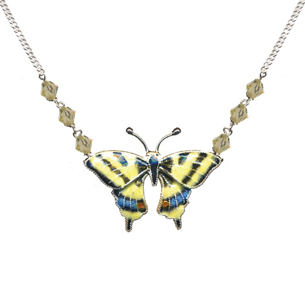 Swallowtail Butterfly Cloisonne Small Necklace | Bamboo Jewelry | BJ0004sn