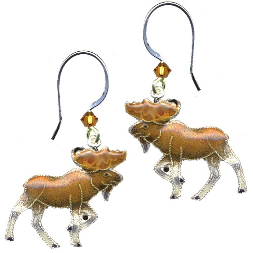 Moose Cloisonne Wire Earrings | Bamboo Jewelry | bj0019e