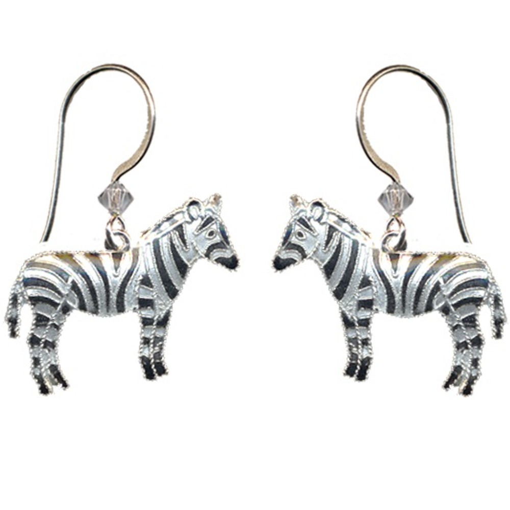 Zebra Cloisonne Wire  Earrings | Bamboo Jewelry | bj0037e