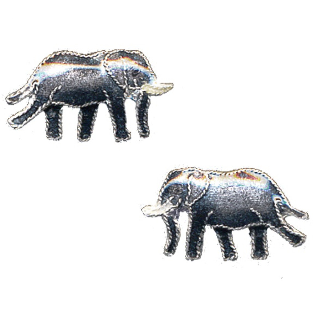 Elephant Post Cloisonne Earrings | Bamboo Jewelry | bj0057pe