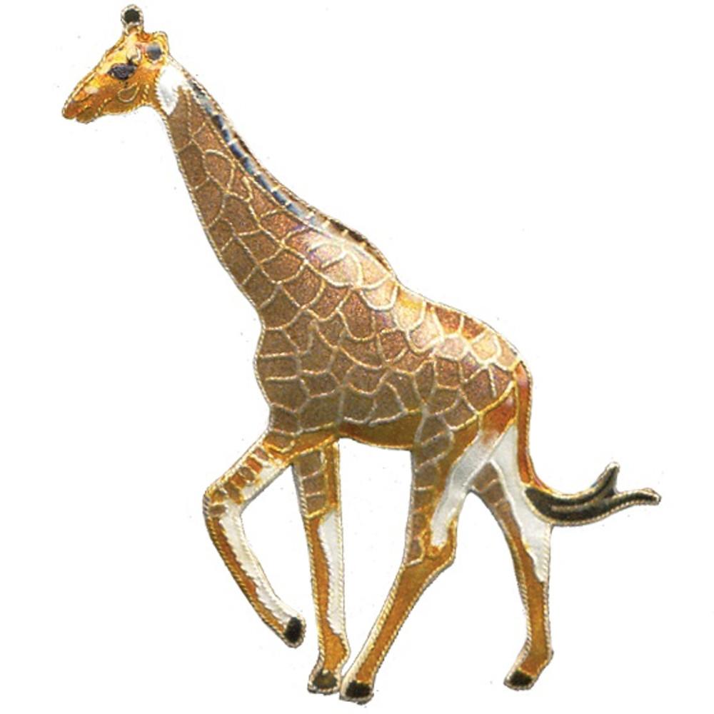 Giraffe Cloisonne Pin | Bamboo Jewelry | bj0058p