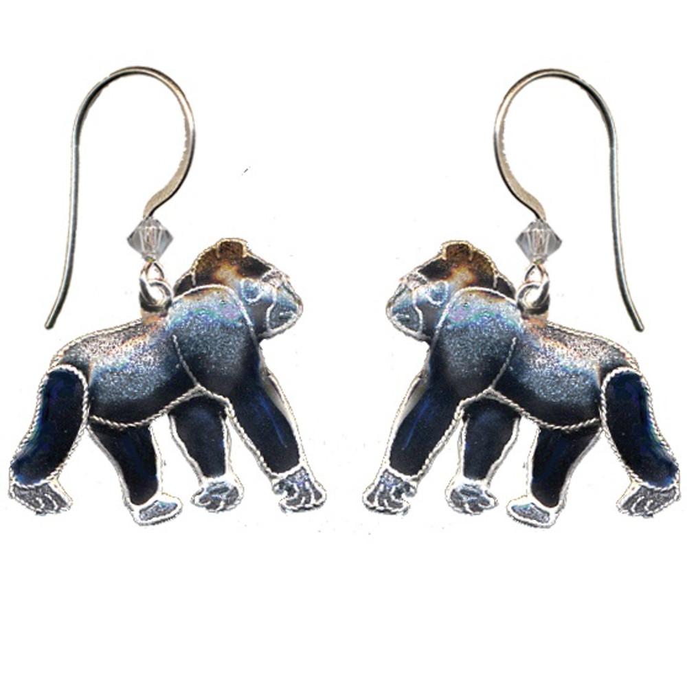 Gorilla Cloisonne Wire Earrings | Bamboo Jewelry | bj0059e