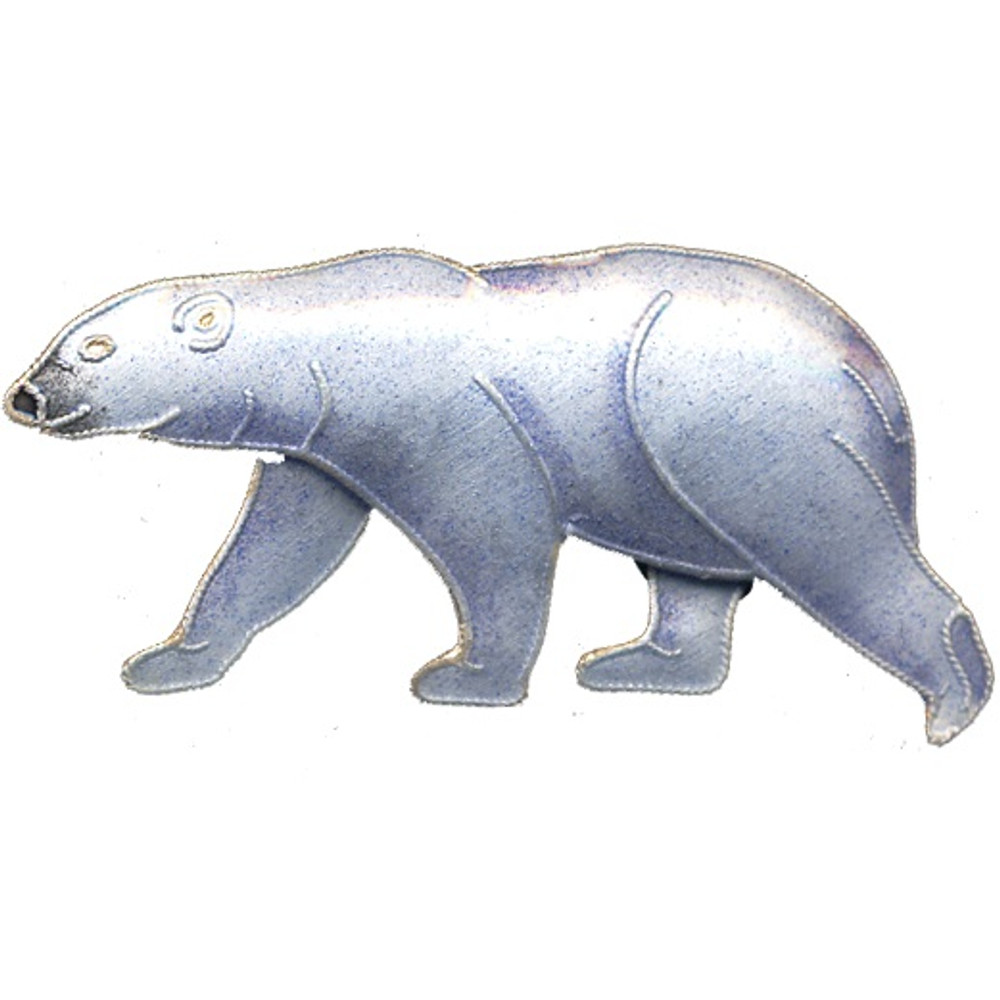 Polar Bear Cloisonne Pin | Bamboo Jewelry | bj0063p